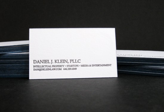 Attorney cards paper schmaper letterpress business card reheart Gallery
