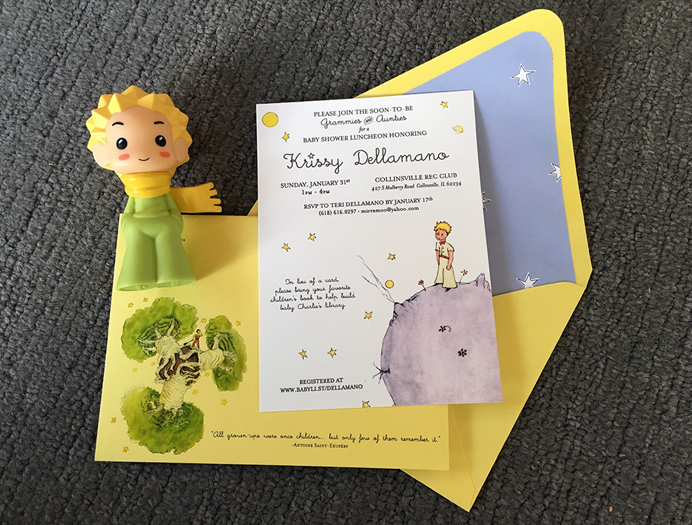 Le Pe Prince Baby Shower Invitation