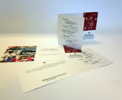 holiday card university
